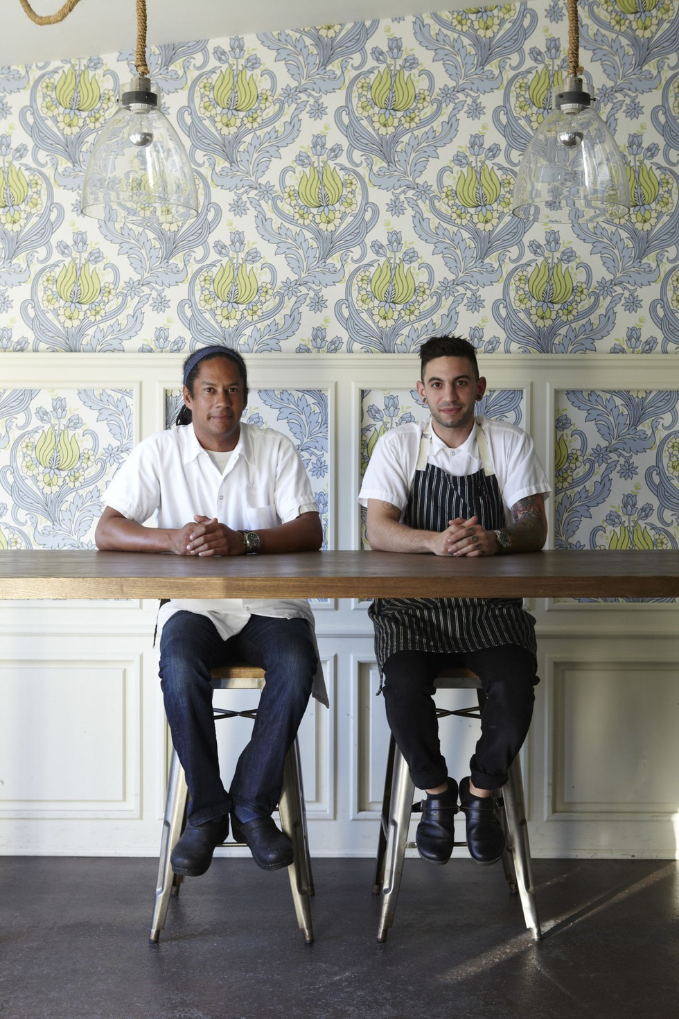 Chefs Govind Armstrong and Ryan Costanza at Willie Jane