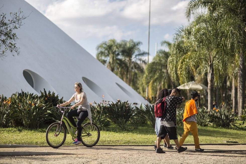 Oscar Niemeyer's Oca pavilion in Parque Ibirapuera