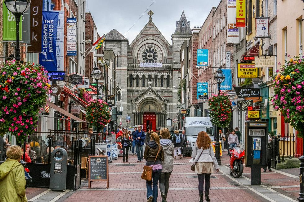 Dublin shopping district