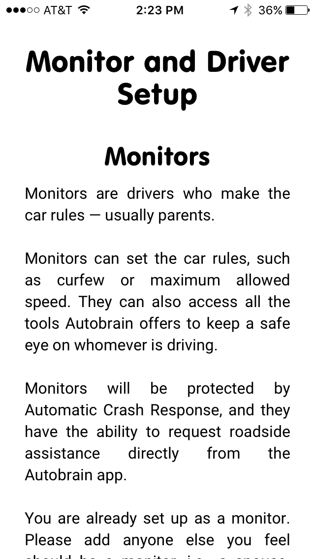 Setup and Monitor Drivers through Autobrain mobile app.