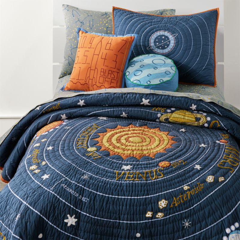 Crate and Barrel solar system bedding
