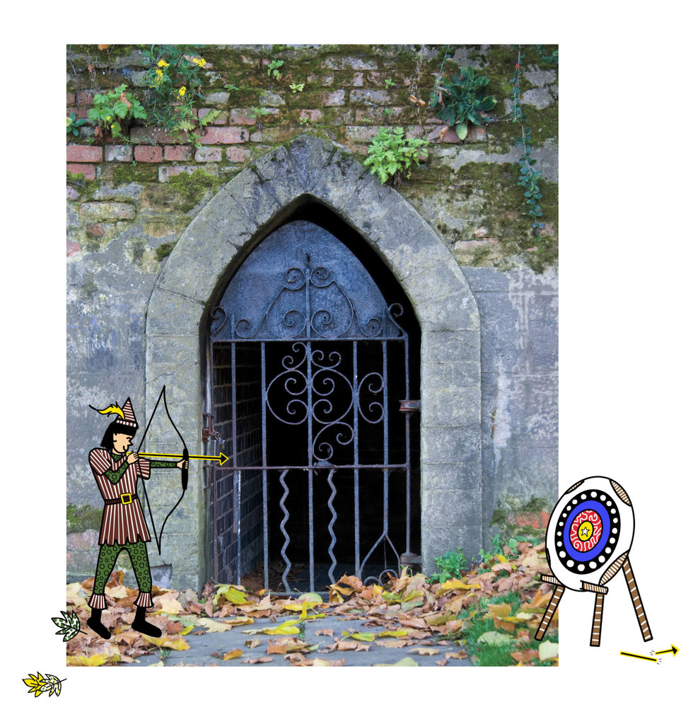 Illustration of storybook character, Robin Hood