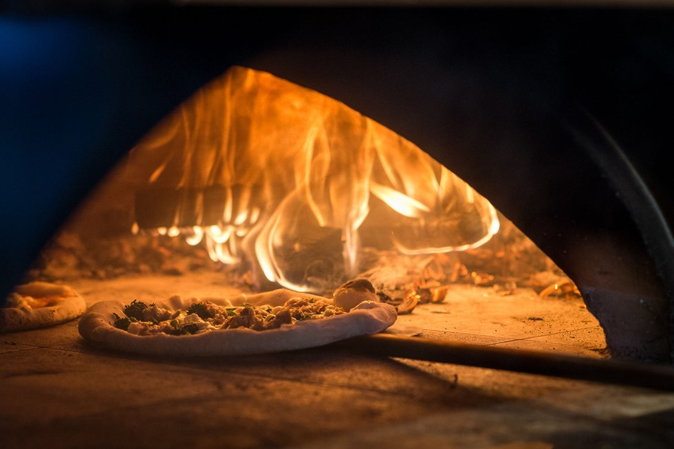 The wood-fired oven at Cart-Driver