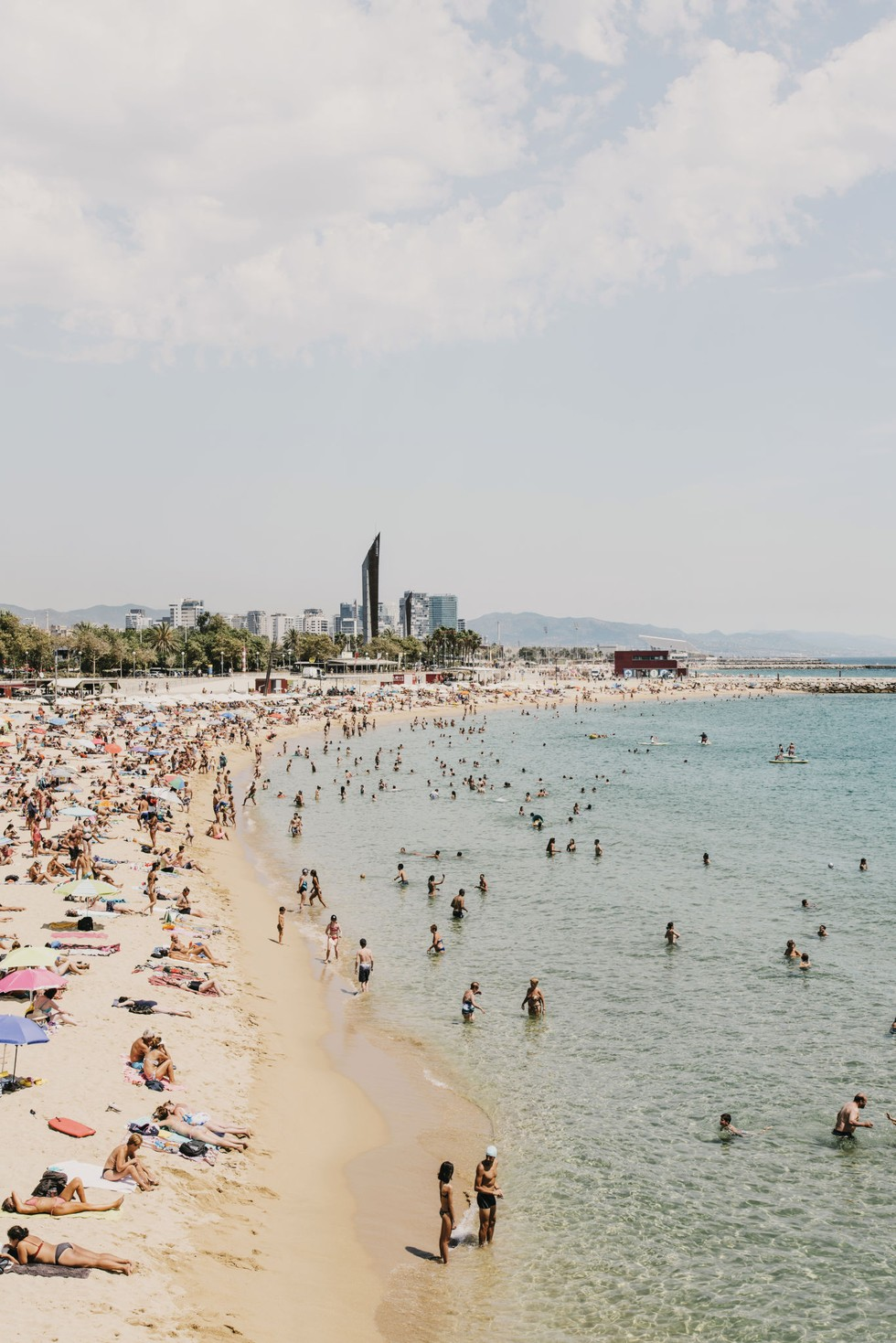 Barcelona's man-made beach