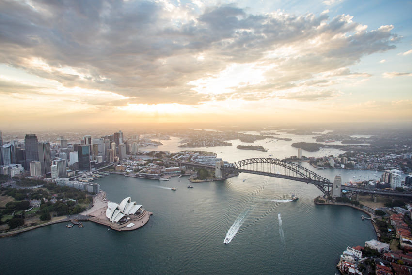 Sydney Harbor seen from above