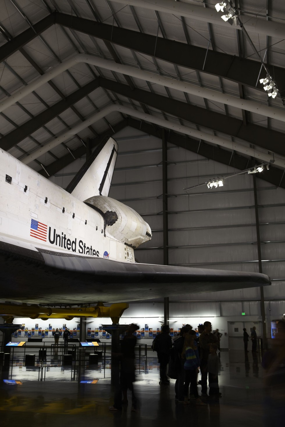 The space shuttle Endeavour at Exposition Park