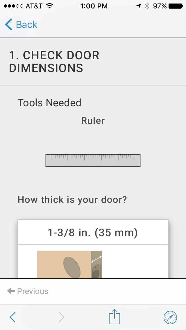 Thickness of Your Door