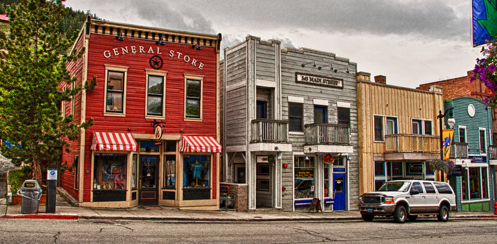 The downtown village in Park City, Utah