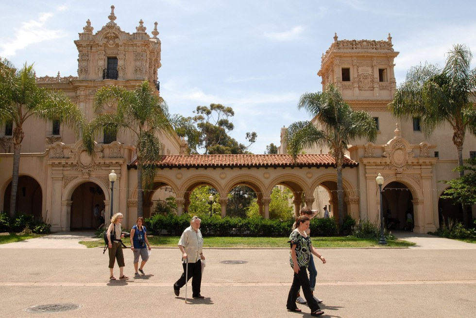 The entrance to Balboa Park